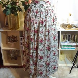 Vintage Bucolique Zip Up Skirt